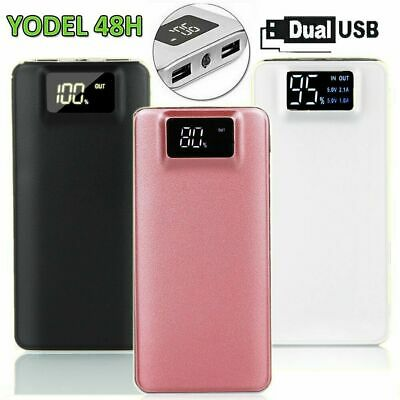 Power Bank 500000mAh Digital LED Dual USB Backup Battery Charger Fr Mobile Phone