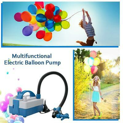 Electric Balloon 2 Nozzle Air Pump Inflator Tube 600W Blower Party Tools ABS