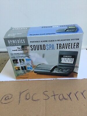 Homedics Sound Spa Traveler Alarm Clock & Relaxation System Sound Spa Travelled