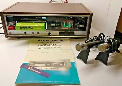 Vintage Electrophonic 8 TRACK TAPE RECORD AND PLAYBACK DECK, 2 ORIGINAL MICS