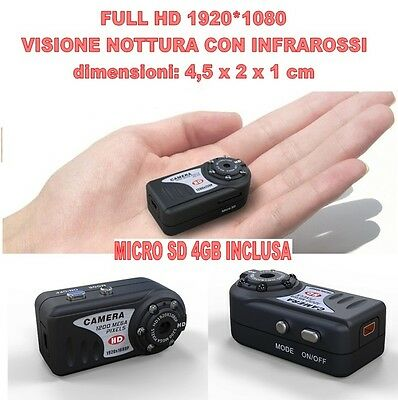 Mini Dv MD80 Full HD 1920 1080 Night Vision Micro Camera Spy 12 Mpixel + SD 4GB