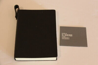 Pinetti Black Leather Notebook Journal Handmade in Italy