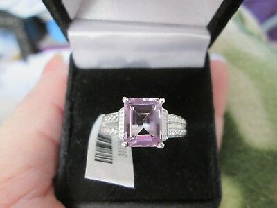 Rose De France Amethyst Sterling Silver Ring TGW 2.85 cts.