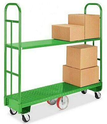 U-BOAT Platform Truck with 2 Additional Shelf - Green