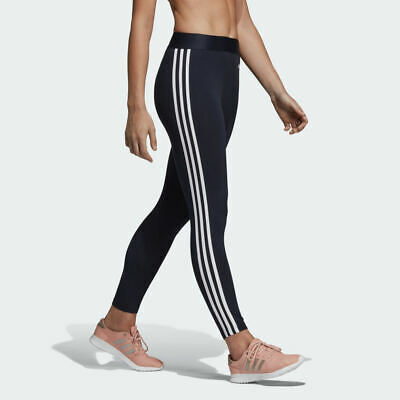 Adidas Womens Stripe Leggings Joggers Jogging Bottoms Running Gym