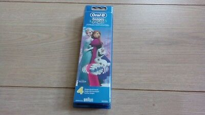 Genuine Kids Oral B Electric Toothbrush Disney Frozen Refill Heads Stage x4 (UK)