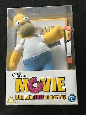 THE SIMPSONS MOVIE - DVD  - New And Sealed Includes Plush Homer Soft Toy BNIB
