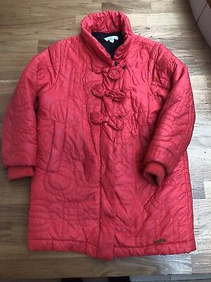 100% Genuine Girls Red Marc Jacobs Padded Coat - Age 5