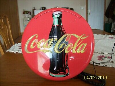 1995 Vintage Advertising Coca-Cola Blinking Disc Telephone Neon Coke Phone
