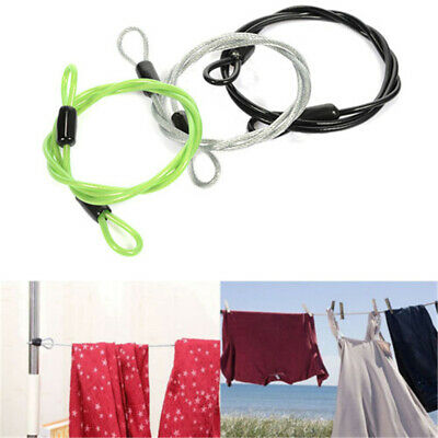 200CM x 2.5MM Cycling Sport Security Loop Cable Lock Bicycle Scooter U-Lock  KH