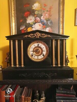Antique Metal Mantel Ansonia Clock Co. Usa New York
