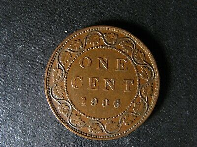 1 cent 1906 Canada one penny copper coin large King Edward VII c ¢ VF-25