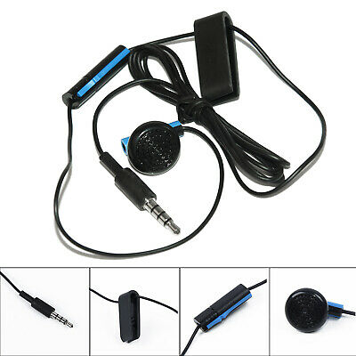 Black Headset Earbud Mono Microphone Earpiece Clip On/Off  For Sony PS4 Game