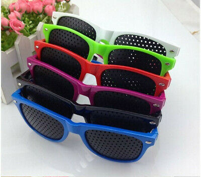 Pinhole Glasses Exercise Eyewear Eyesight Improvement Vision GlassesTraining HOT
