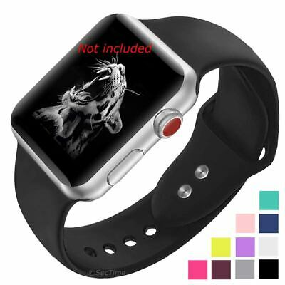Smooth Silicone Watch Strap Band For Apple iWatch Series 1 2 3 4 38/40 42/44 mm