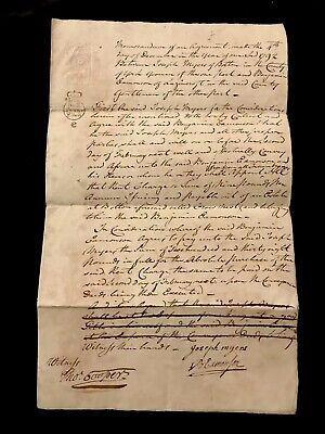Paper Document of England 1792