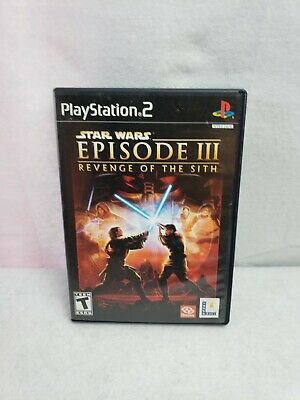 Star Wars Episode III 3 Revenge Of The Sith PlayStation PS2 Tested Working