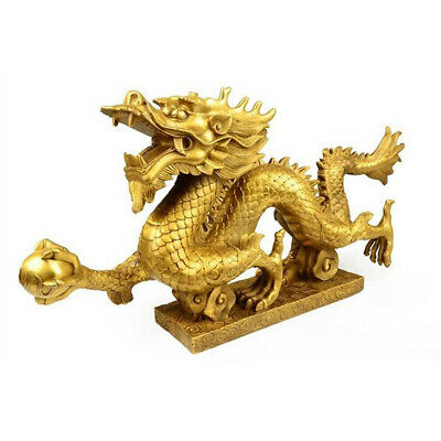 Chinese Fengshui Geomancy Dragon Figurine Statue Ornaments for Luck & Success