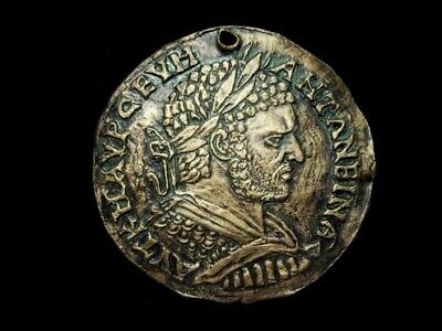 Terracotta Plaque, Replica, Depicting One Of The Rarest Coins Of Caracalla !!!