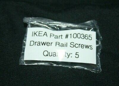 IKEA 100365 Drawer Screws Side Rails Hemnes Malm Hopen Parts Replacement 120035