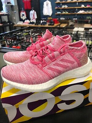 Women's Adidas PureBoost Go J Pink Running Shoes Size 5 YOUTH OR 6.5 WOMENS