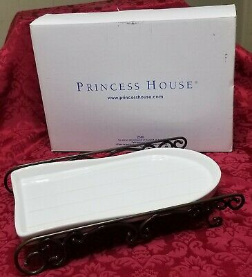Princess House RARE Meridian Sleigh/Ceramic Serving Dish #2380, BRAND NEW