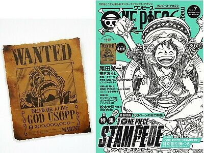 ONE PIECE magazine Vol.7  w/Bounty-USOPP Jump Comic JAPAN
