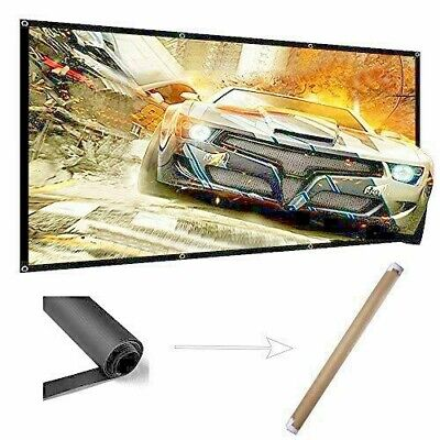 120 Projector Screen 16:9 Portable Wrinkle Free 4K Projection screen PVC in Roll
