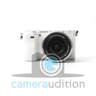 Genuino Sony Alpha A6000 Mirrorless Digital Camera with 16-50mm Lens (White)