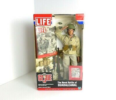 """New LIFE GI Joe Naval Battle of Guadalcanal Collectible 12/"""" Action Figure Doll"""