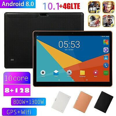 10.1 Inch 4G-LTE Wifi Tablet Android 8.0 Bluetooth PC 8+128GB Dual SIM with GPS