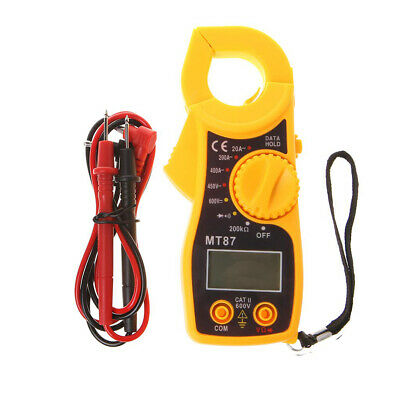 MT87 Digital Electric Clamp Meter Multimeter AC DC Current Volt Amp Tester Test