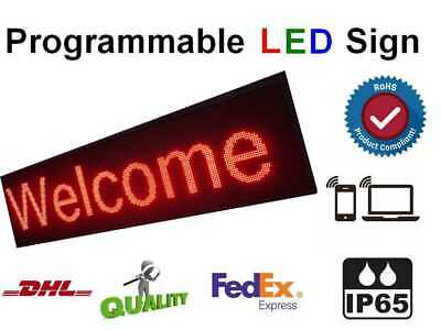 """21""""x27"""" P10 mm PC Programmable LED Sign Digital Text Message Advertisement Board"""