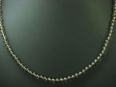 Smoky Topaz Necklace with 925 Sterling Silver Clasp / Real Silver/51,0cm