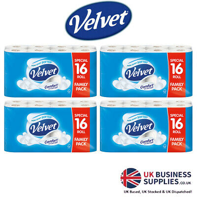 Velvet Comfort White Toilet Tissue 18 Rolls Bathroom Multipack Offer Buy & Save!