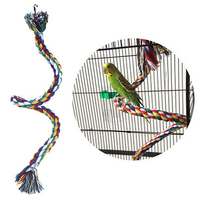 Parrot Rope Braided Toys Pet Parrot Bird Chew Rope Perch Coil Bird Cage Train IU
