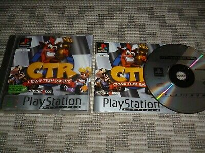 Jeu PS1, CRASH TEAM RACING CTR, SONY PLAYSTATION Complet, boite, notice, PAL