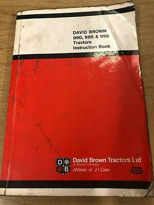 David Brown 990//995//996 Tractor Instruction Manual