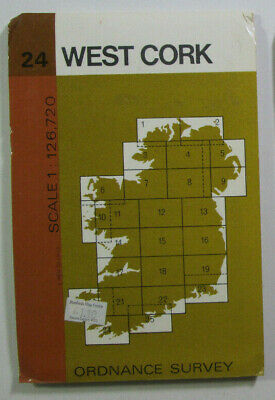 1978 Old Vintage OS Ordnance Survey of Ireland Half-Inch Map Sheet 24 West Cork