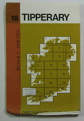 1975 Old Vintage OS Ordnance Survey of Ireland Half-Inch Map Sheet 18 Tipperary