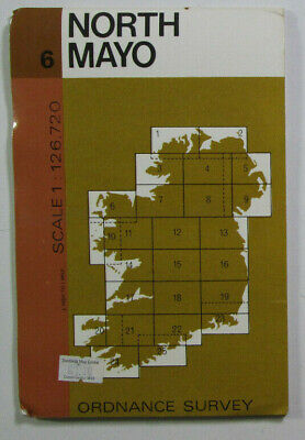 1979 Old Vintage OS Ordnance Survey of Ireland Half-Inch Map Sheet 6 North Mayo