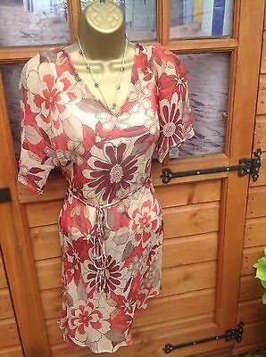 ex Coast Maddie Mea Print High Low Relaxed Tunic Top
