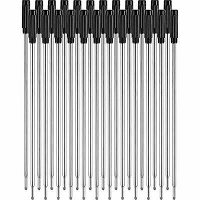 24 Pieces Replaceable Ballpoint Pen Refills Smooth Writing 4.5 Inch (11.6 Cm) Mm