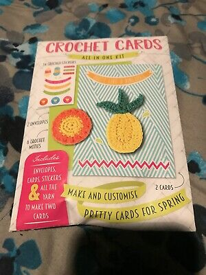 Crotchet Card KIT Spring Time    2 IN 1 Crotchet  CARD KIT