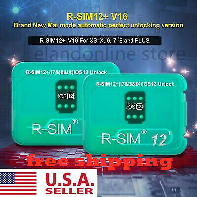 R-SIM 14 V18 12+V16 Nano Unlock Card RSIM For iPhone 6 - XSM 4G iOS 12.4 Lot