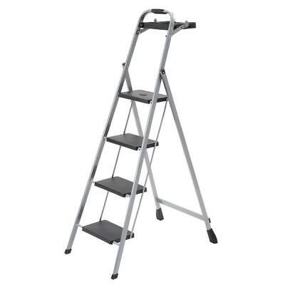 Sensational 4 Step Steel Skinny Mini Step Stool Ladder With Project Tray Pabps2019 Chair Design Images Pabps2019Com