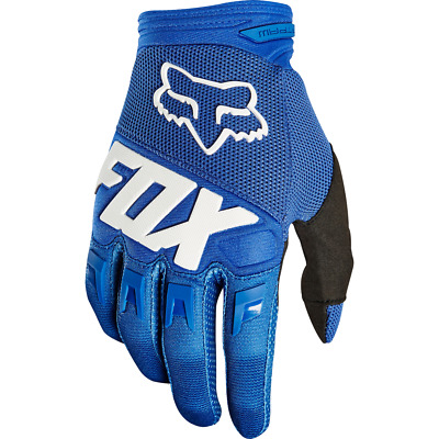 Fox Dirtpaw Kids Motocross MX Off Road Race Gloves Blue Youth XSmall (4)