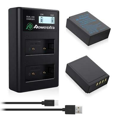Powerextra 2 X NP-W126S Battery LCD Charger For Fuji X100F X-A1 X-A2 X-A3 X-A5