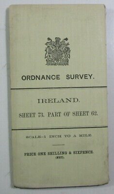 1899 Old OS Ordnance Survey Ireland One-Inch Second Edition Map 73 62 Co. Mayo
