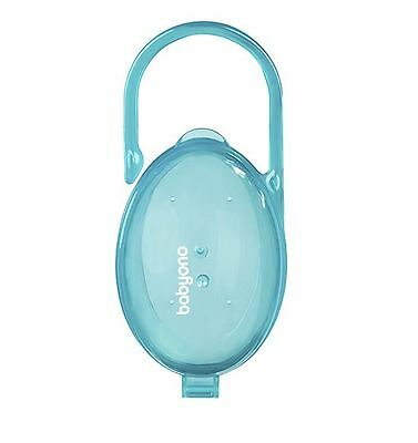 Baby Dummy Soother Pacifier Portable Travel Case Storage Box - Turquoise